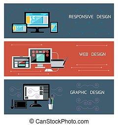 interessiert, web, graphischer entwurf, design