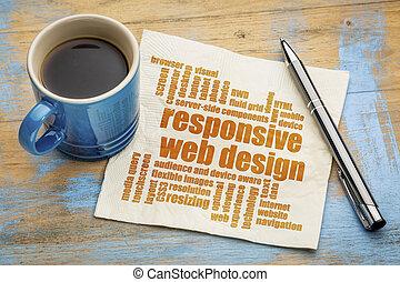 interessiert, wort, web, wolke, design