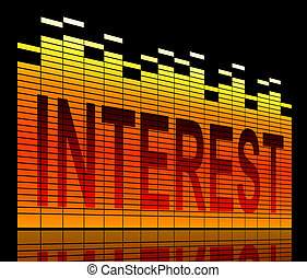 Interest concept. - Abstract style illustration depicting ...