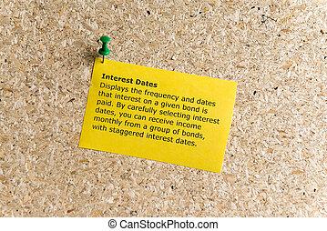 interest dates