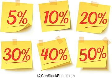 Interest discounts. Sale on the sticker