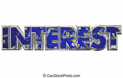 Interest Savings Rate Loan Money Borrow Debt Payment 3d Illustration