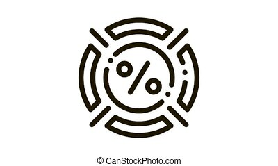 Interest Target Concept Icon Animation. black Interest Target Concept animated icon on white background