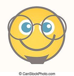 Interested - Cartoon Smiley Vector