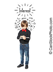Interested little boy