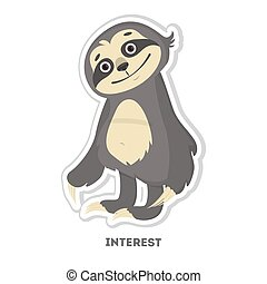 Interested sloth sticker