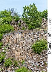 Interesting columnar basalt