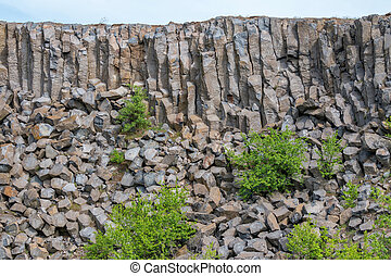 Interesting columnar basalt at Hungary