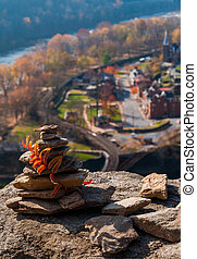 Interesting construction of rocks on Maryland Heights