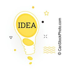 Interesting facts bubble symbol. Banner or sicker with word idea. Social media faq banner with speech bubble. Vector illustration on white background