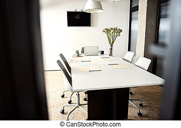 Interesting office ready for work