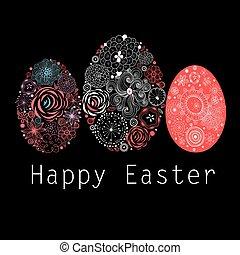 Interesting ornamental Easter eggs