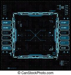 interfaccia, grafico, utente, futuristico