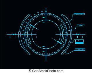 interfaccia, hud, utente, futuristico