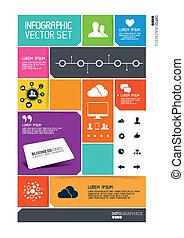 interfaccia, moderno, infographics