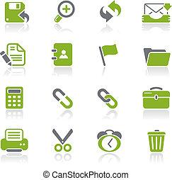 interfaccia, web, natura, /, icone