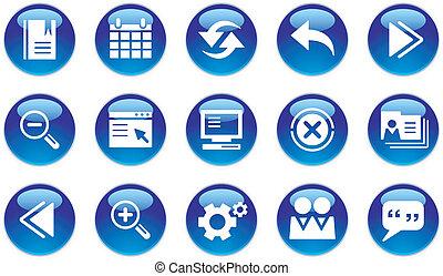 interfaccia, web, set, icone