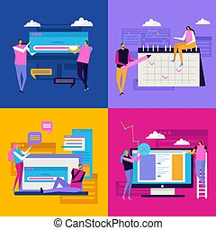interface, apartamento, conceito, desenho