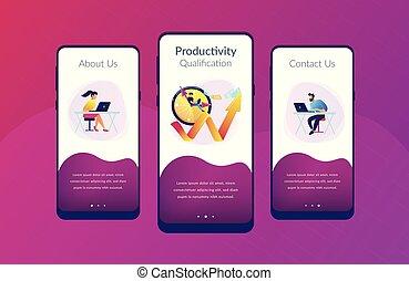 interface, app, produtividade, template.