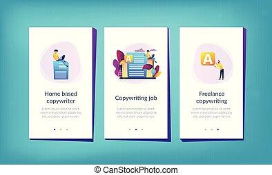 interface, app, template., copywriting