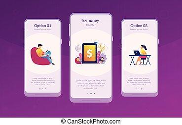 interface, app, template., digital