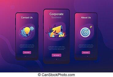 interface, colaboração, app, template.