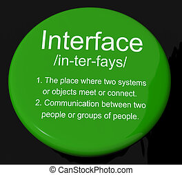 Interface Definition Button Shows Control Connection And Interfacing