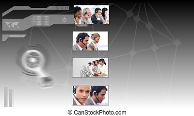 Interface depicting call centre sit