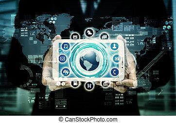 interface, dispositivo, internet