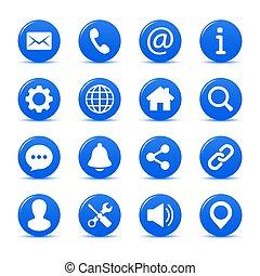 interface, ensemble, icônes