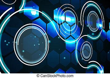 interface, futurista, tecnologia