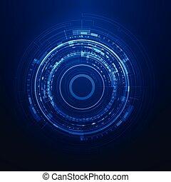 interface, grafisch, gebruiker, futuristisch