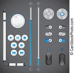 interface, graphique, ensemble, utilisateur