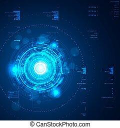 interface, graphique, utilisateur, futuriste