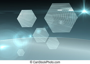 interface, hexágono