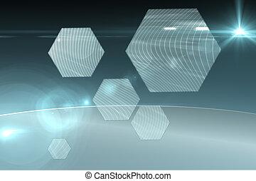 interface, hexagone