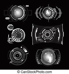 interface, hud, ensemble, radar, monochrome