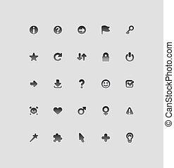interface, icônes, pour, signes