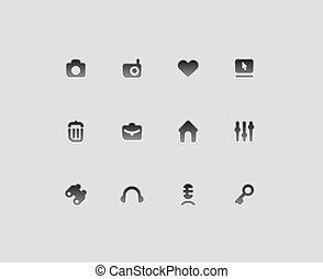 Interface icons for computer programs and web-design. Vector...