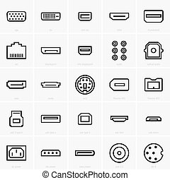 Interface icons, shade pictures