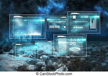 interface, image composée, business