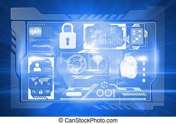 interface, imagem composta, identificação