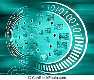 interface, internet