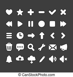interface, jogo, ícones