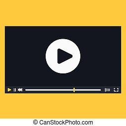 interface, joueur, vidéo, conception