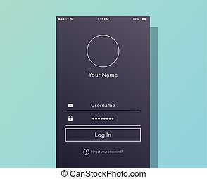 Interface Login On Phone Screen.