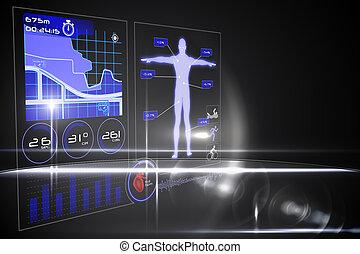 interface, médico