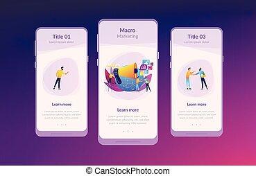 interface, macromarketing, app, template.