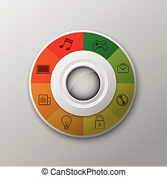 interface modern button