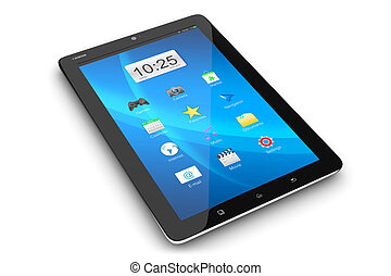 interface, pc, moderne, tablette